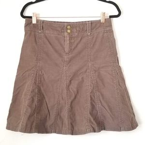 Athleta Whenever Corduroy A-Line Skirt- Olive